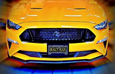Digital Art - Bad Ass Mustang by David Manlove