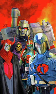 Comics Mixed Media - Bad Guys From the 80s Cartoons by Mark Spears