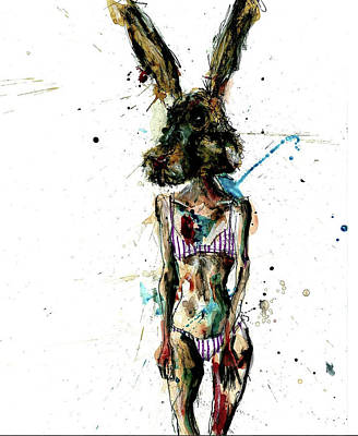 Wall Art - Painting - Bad Hare Day by Rudog Rags