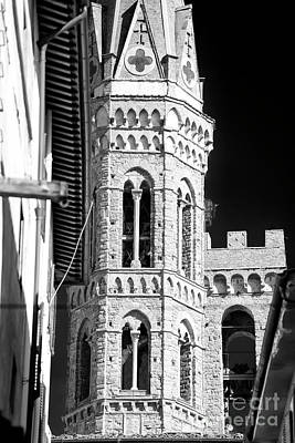 Photograph - Badia Fiorentina Bell Tower Florence by John Rizzuto