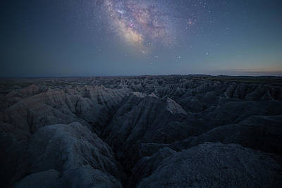 Photograph - Badland Blues  by Aaron J Groen
