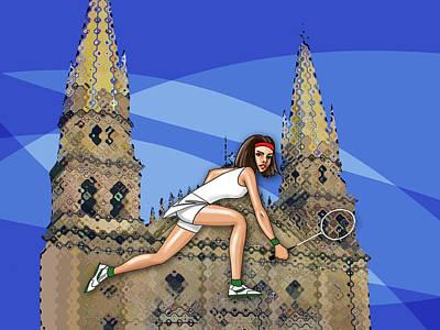 Rabbit Marcus The Great - Badminton by Jaime Enriquez