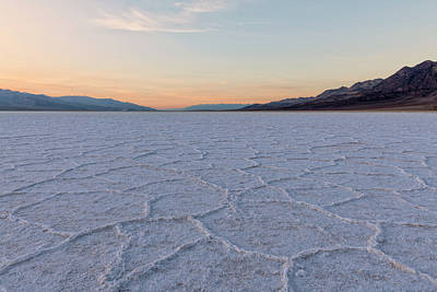 Photograph - Badwater Basin Sunset by Loree Johnson
