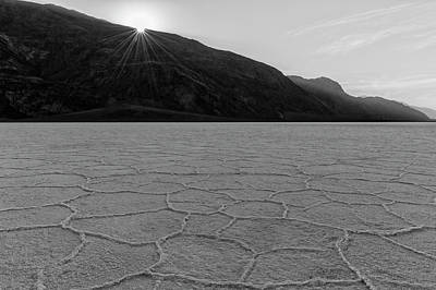 Photograph - Badwater Morning - Black And White by Loree Johnson