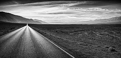 Photograph - Badwater Road In Death Valley by Alvis Upitis