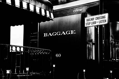 Photograph - Baggage Car by Paul W Faust - Impressions of Light
