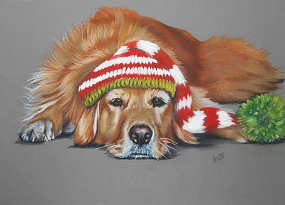 Pastel - Bah Humbug by Barbara Keith