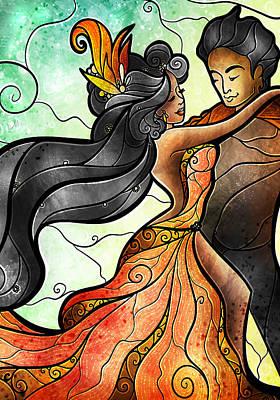 Mixed Media - Bailar Conmigo by Mandie Manzano