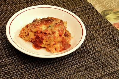 Photograph - Baked Ziti Serving 1 by Angie Tirado