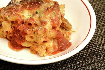 Photograph - Baked Ziti Serving 2 by Angie Tirado