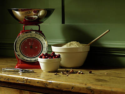 Balance Photograph - Baking Ingredients Sit On Table by Max Oppenheim