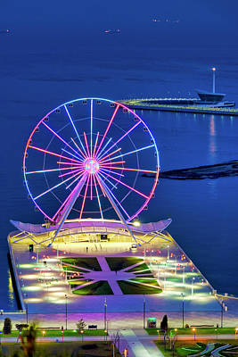 Photograph - Baku Ferris Wheel by Fabrizio Troiani