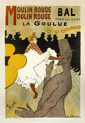 Painting - Bal La Goulue Vintage French Advertising by Vintage French Advertising