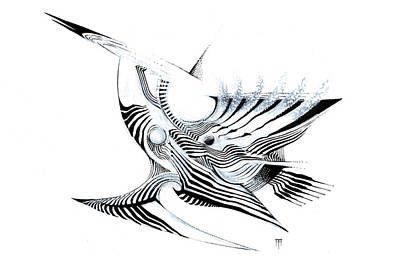 Animals Drawings - Balaena by Alex Ruiz