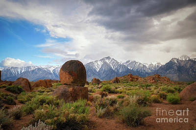 Photograph - Balanced Rock At Alabama Hills by Michael Ver Sprill