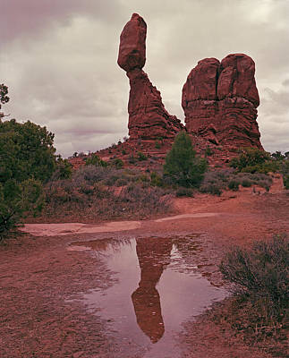 Photograph - Balanced Rock Reflection by Tom Daniel