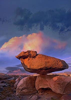 Photograph - Balancing Rock Formation, Guadalupe by Tim Fitzharris/ Minden Pictures