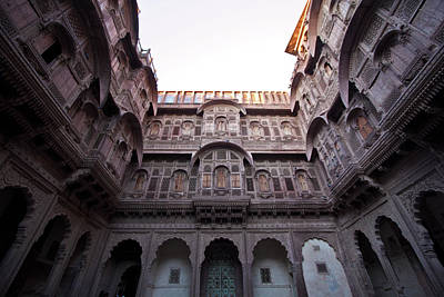 Balcony Photograph - Balconies At Mehrangarh Fort by Lydia Wagner