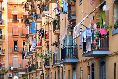 Balcony Photograph - Balconies In Barceloneta by Jean-pierre Lescourret