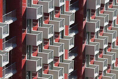 Balcony Photograph - Balconies Of Building by José Rodrigues