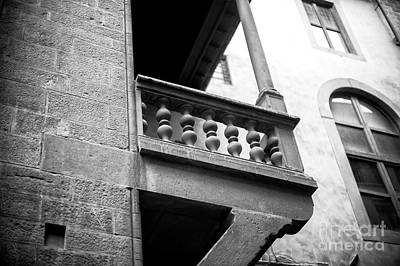 Photograph - Balcony Elements In Florence by John Rizzuto