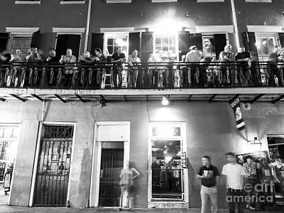 Photograph - Balcony Mood At Night New Orleans by John Rizzuto