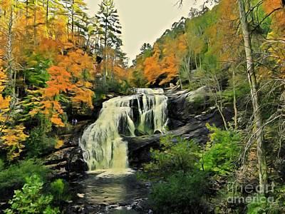 Photograph - Bald River Falls In Autumn  by Rachel Hannah