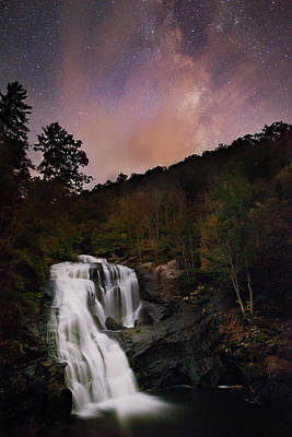 Photograph - Bald River Falls Milky Way by Dennis Sprinkle