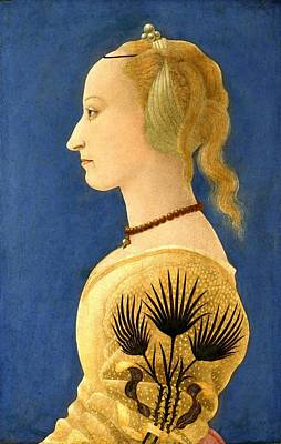 Nighttime Street Photography - BALDOVINETTI, Alessio - Portrait of a Lady in Yellow by European Paintings