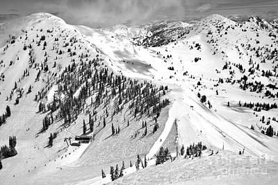 Photograph - Baldy Ridgeline Black And White by Adam Jewell