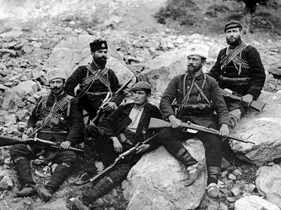 Balkan Soldiers Art Print by Topical Press Agency