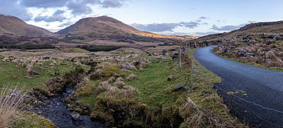Photograph - Ballaghisheen Pass Ireland With Stream by John McGraw