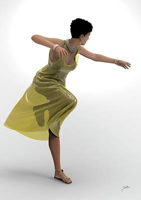 Sara Habecker Folk Print - Ballerina dressed in tulle by Joaquin Abella