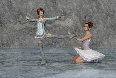 Surrealism Digital Art - Ballerina Sisters by Betsy Knapp