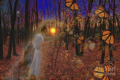 Digital Art - Ballerinas And Butterflies by Jeff Breiman