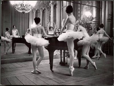 Photograph - Ballerinas At The Paris Opera Doing by Alfred Eisenstaedt