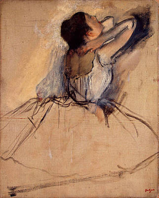Painting - Ballet Dancer By Edgar Degas, Pastel by Fine Art Images