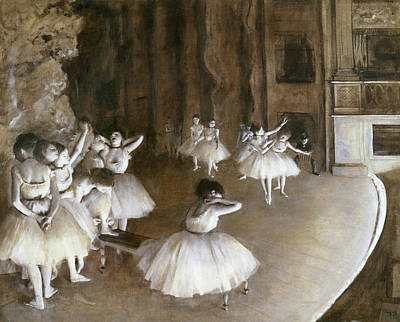 Painting - Ballet Rehearsal On The Set By Edgar by Peter Willi