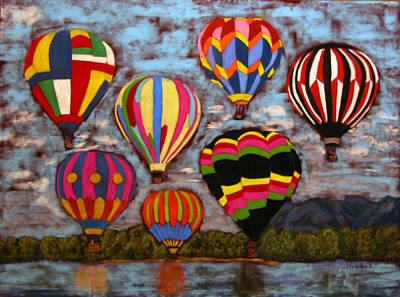 Wall Art - Pastel - Balloon Family by Laura Gabel