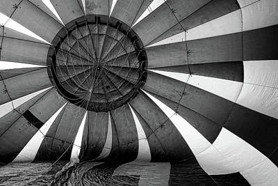 Photograph - Balloon Fantatsy 39 - B And W by Allen Beatty