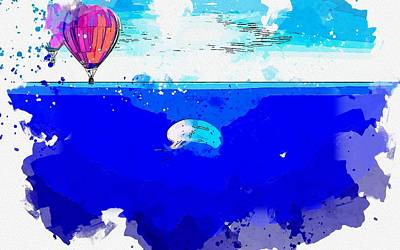 Royalty-Free and Rights-Managed Images - Balloon Jellyfish -  watercolor by Ahmet Asar by Ahmet Asar