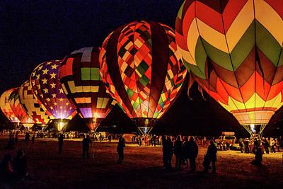 Photograph - Balloon Nights by Robin Mayoff
