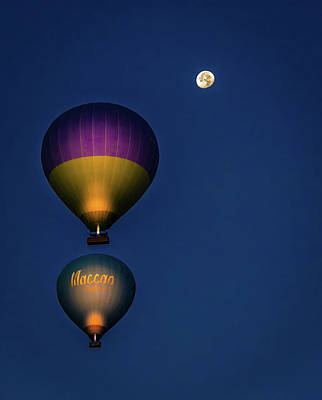 Photograph - Balloons And The Moon by Francisco Gomez