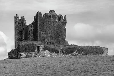 Photograph - Ballycarbery Castle Ireland Black And White by John McGraw