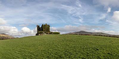 Photograph - Ballycarbery Castle Ireland Panaramic   by John McGraw
