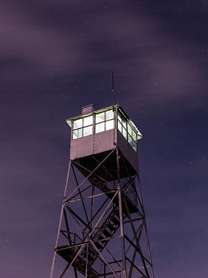 Photograph - Balsam Lake Mountain Firetower  by Brad Wenskoski