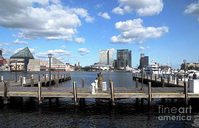 Digital Art - Baltimore Harbor East View by Walter Oliver Neal