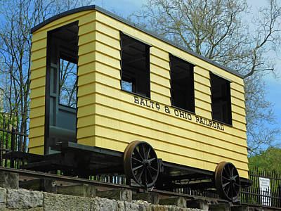 Ballerina Art - Baltimore Ohio Railroad Car by Emmy Marie Vickers