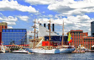 Digital Art - Baltimore's 2012 Sailibration by Walter Oliver Neal