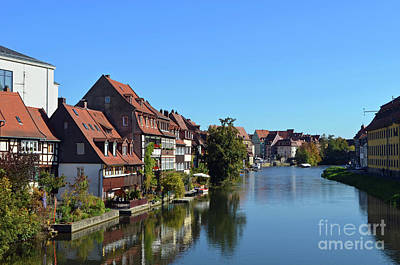 Classical Masterpiece Still Life Paintings - Bamberg Germany Regnitz River by Eva Kaufman